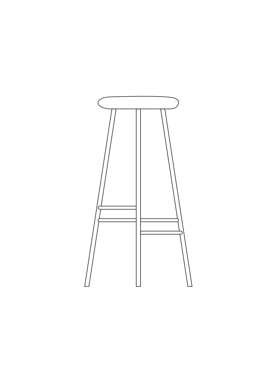 Pebble bar stool illustration