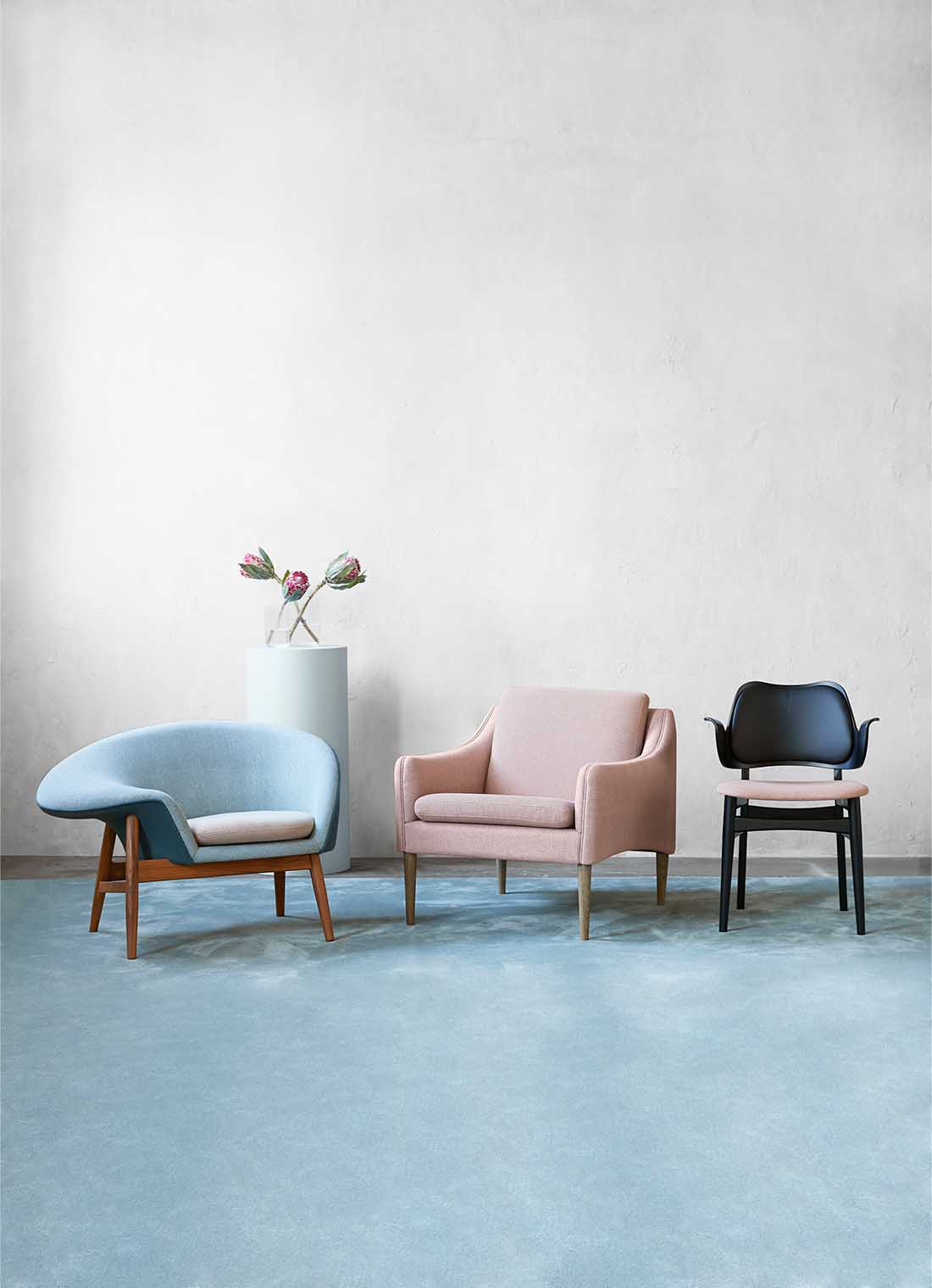 Mr. Olsen series of sustainable designs in pastel shades.